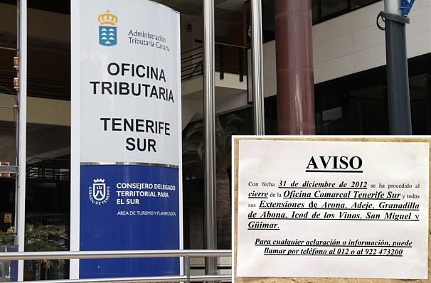 Piden que no se cierren las oficinas de la administracion for Oficina tributaria canaria